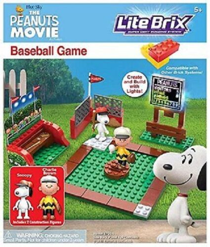 The Peanuts Movie Lite Brix Baseball Game New Sealed FREE SHIPPING Charlie Brow
