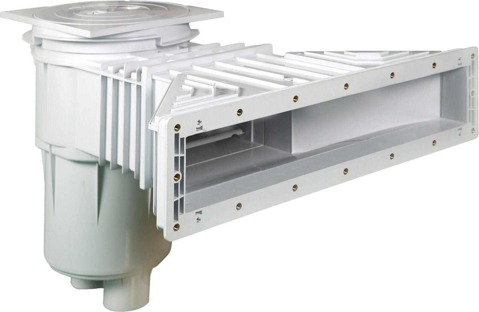 Slim Line Skimmer Set 1, 2x Wanddurchführung, Multiflow Düsen, Breitmaulskimmer