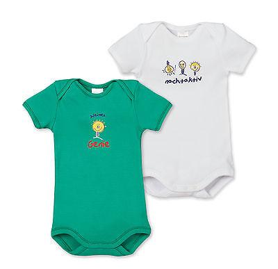 Realistisch Schiesser Baby Body Sprüche Doppelpack Gr 68-104 Bodies Halbarm 100% Co Neu StraßEnpreis