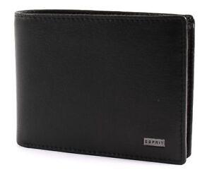 ESPRIT-Medium-Horizontal-Wallet-Black-Schwarz-Geldboerse-Neu