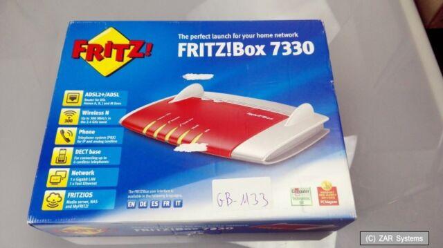 AVM FRITZ!Box Fon WLAN 7330 international Annex B und Annex A, DSL-Modem, NEUW.