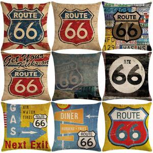 Am-Retro-Route-66-Print-Linen-Pillow-Case-Soft-Cushion-Cover-Home-Cafe-Decor-He