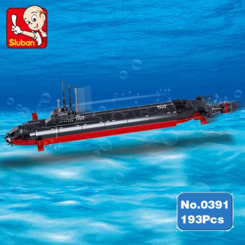 Sluban B0391 Bausteinene Flugzeugträger Navy Nuclear Submarine Schiff Spielzeug