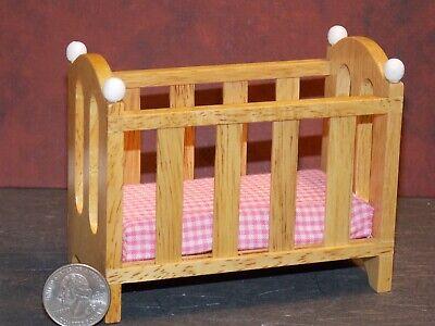 1:12 dollhouse miniature unfinished crib furniture