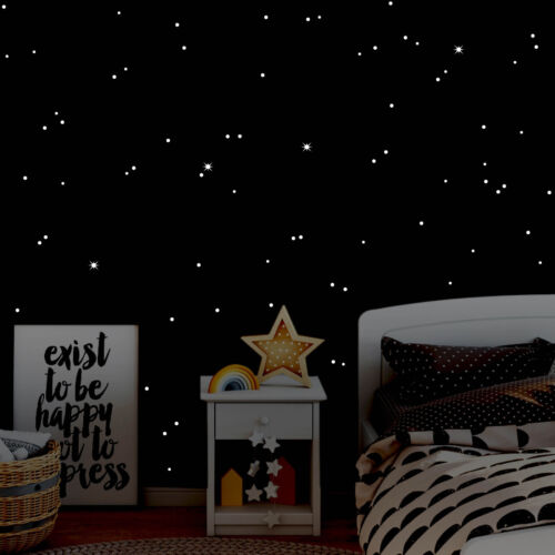 Luminoso Fluorescente Cielo Stellato Wandtattoo-Loft Punti Luce 406 Pezzo
