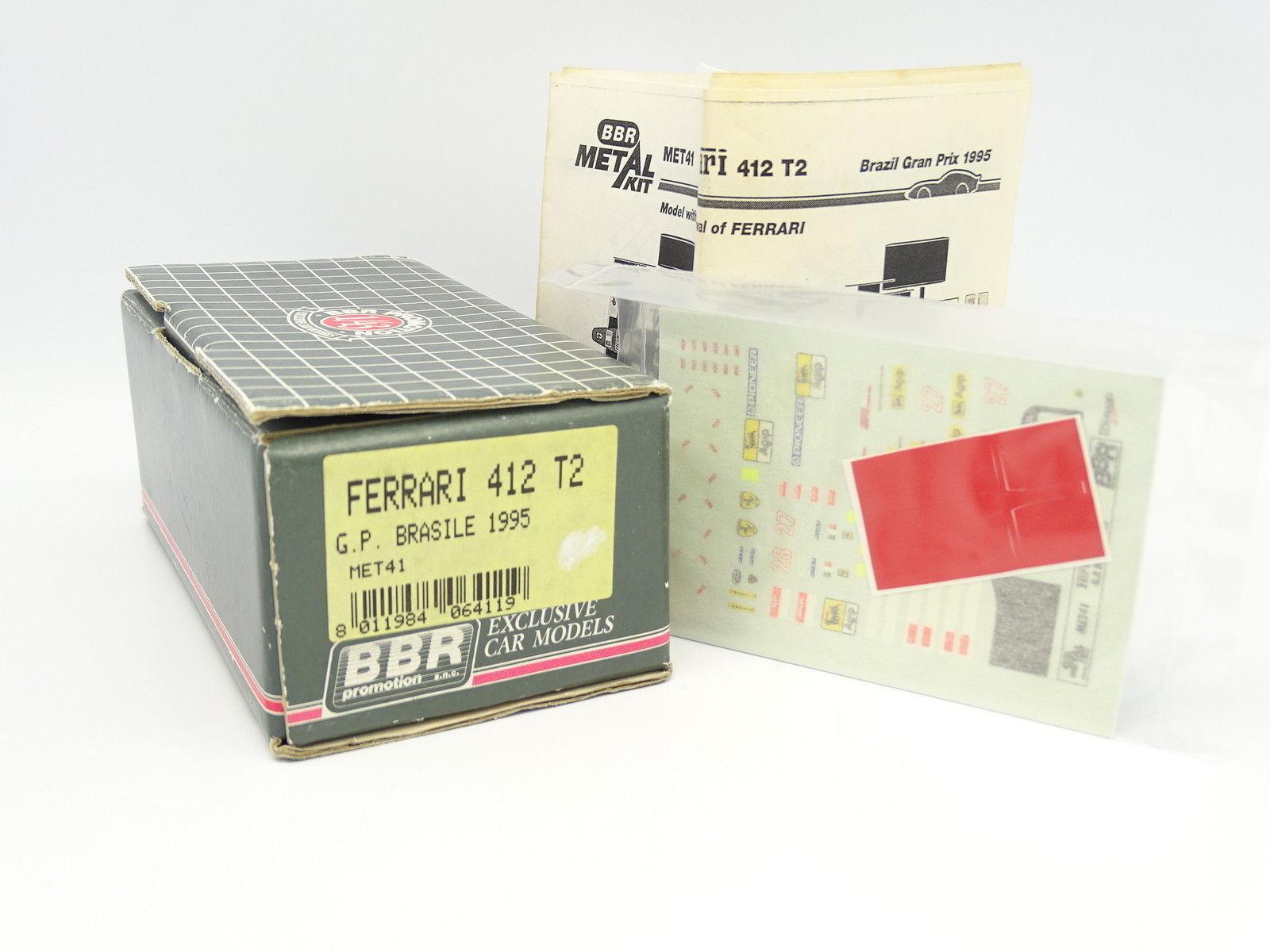 BBR Kit à Monter 1 43 - Ferrari F1 412 T2 Brazil GP 1995