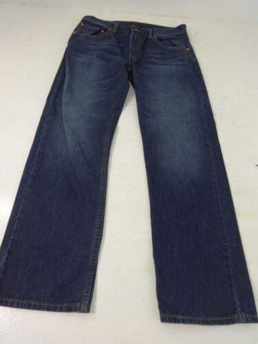 LEVI'S 505 BOYS BLUE DARK WASH COTTON STRAIGHT LEG JEANS SIZE 18 29 X 29