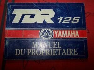 8k - Owner S Manual/manuel/notice Proprietaire/entretien Yamaha Tdr125 Tdr 125 DéLicieux Dans Le GoûT