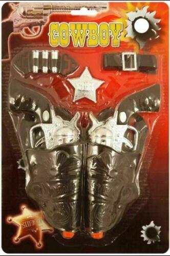 Kinder Erwachsene Cowboy Cowgirl Waffen Pistols /& Holster Kostüm Toy Satz B52