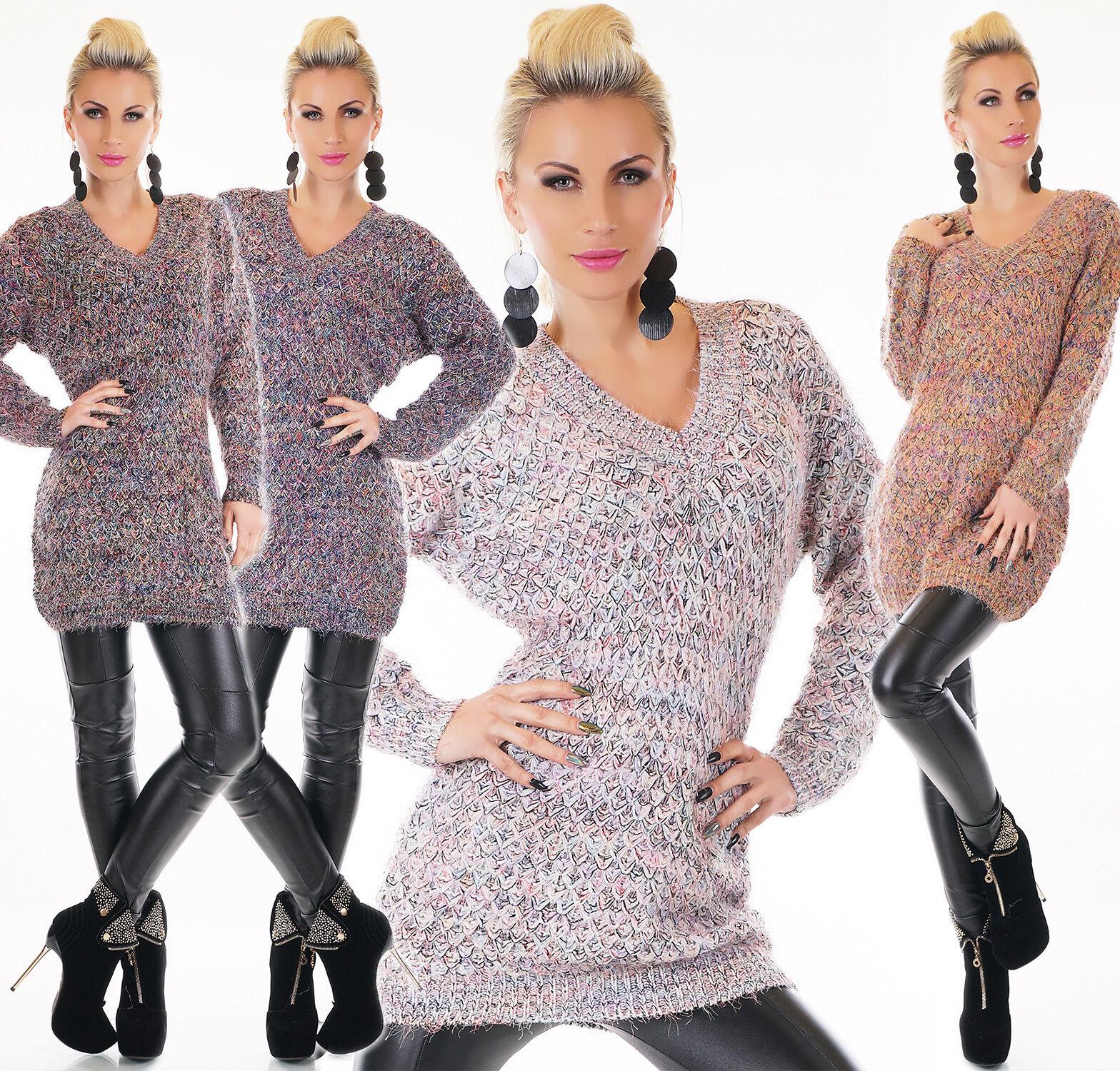 Suéter de women Vestido Punto Jersey Larga Sudadera Extra Grande
