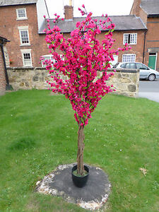 Large artificial dark pink cherry blossom tree flower plant in a pot image is loading large artificial dark pink cherry blossom tree flower mightylinksfo
