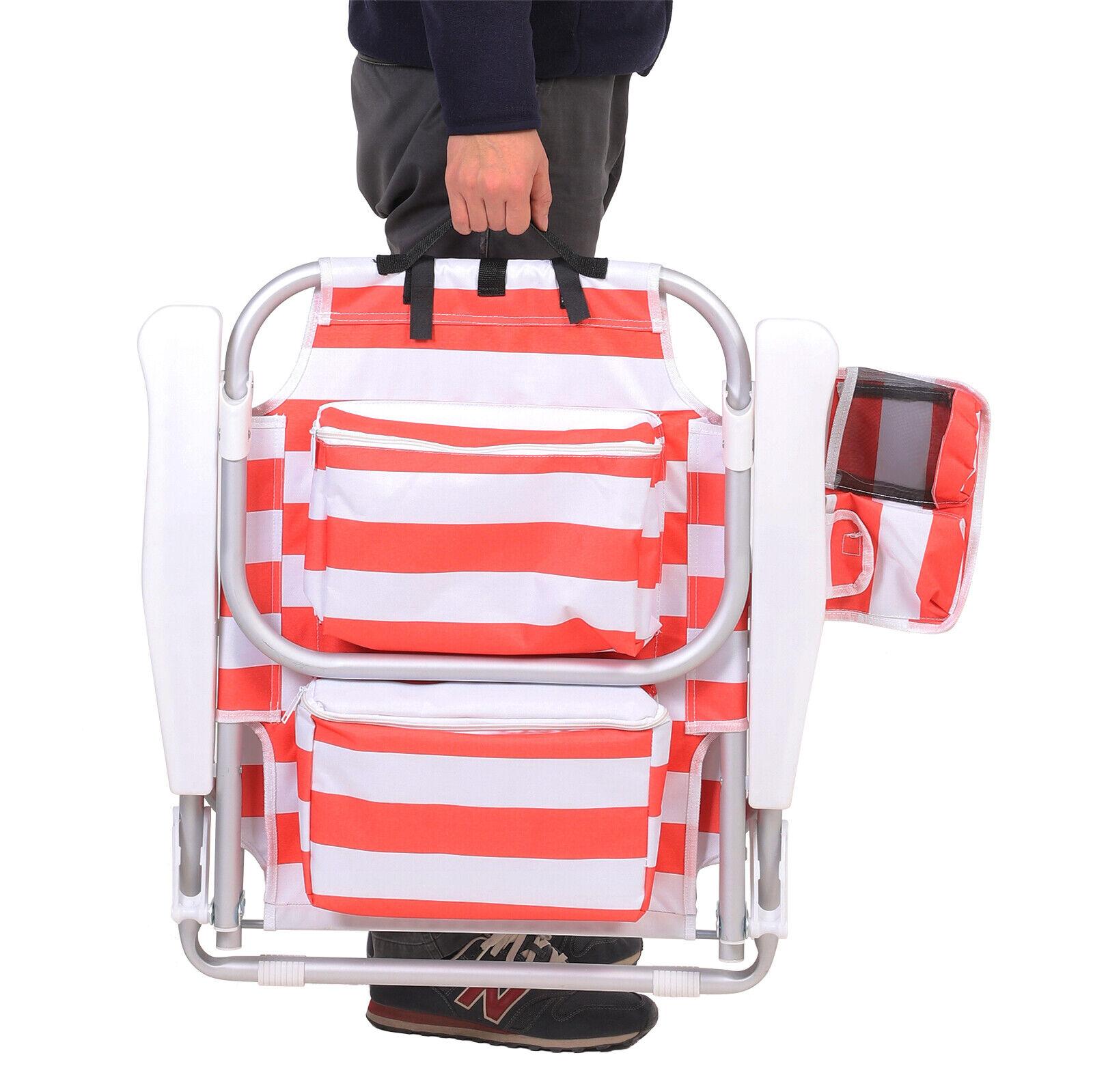 s l1600 - Strandstuhl Klappstuhl Liegestuhl abnehmbarer Kopfstütze Campingstuhl verstellba