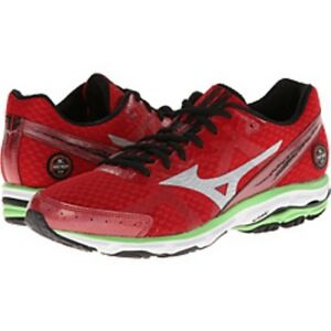 low priced 7bb57 a8a29 Details about MIZUNO WAVE RIDER 17 Men's Running Shoe Red/Silver/Green  410562.1673 New w/Box