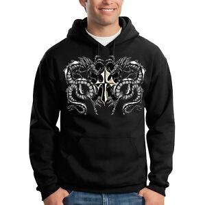 Hoodie Gothic Design Dragons amp; Sweatshirt Cool Hooded Cross C0wOFq