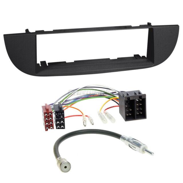 Fiat 500 ab 07 1-DIN Autoradio Einbauset Adapter Kabel Radioblende