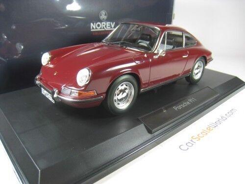 PORSCHE 911 T 1969 1 18 NOREV (DARK rouge)