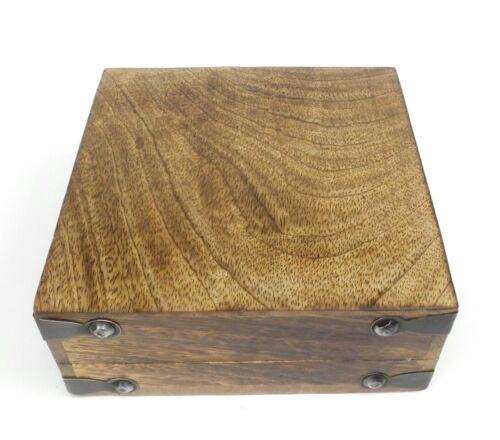 Celtic Knot Decorative Wooden Jewelry Box 6x6 Wood Hinged Lid Trinket Box