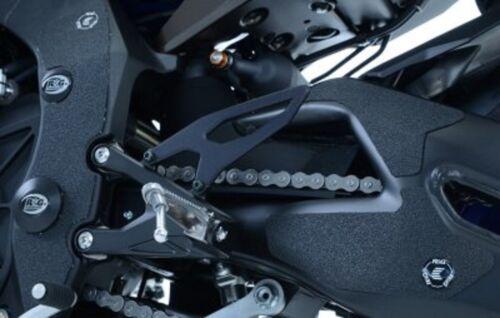 R/&G RACING 4 PIECE BLACK  BOOT GUARD KIT Yamaha YZF-R1M 2018