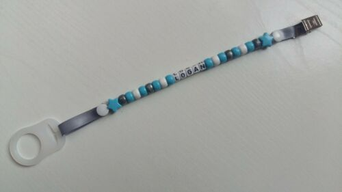 Personalised Dummy Clips for Girls and Boys**Any name**MAM Adapter