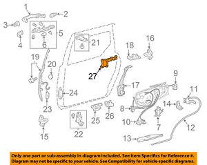 Toyota Oem 04 10 Sienna Side Sliding Door Hinge Left 6839008031 Ebay