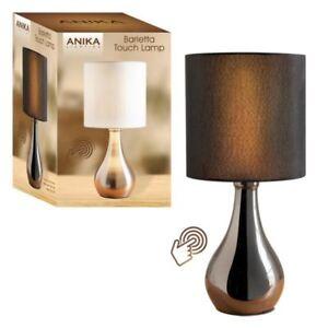 Image is loading Illumini-Benross-Barletta-Touch-L&-Black  sc 1 st  eBay & Illumini Benross Barletta Touch Lamp Black 5025301363000 | eBay