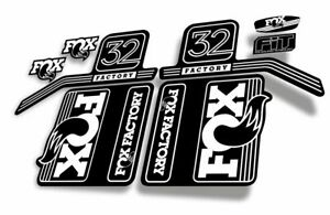 FOX 32 Float 2017 Forks Suspension Factory Decals Stickers Adhesive White