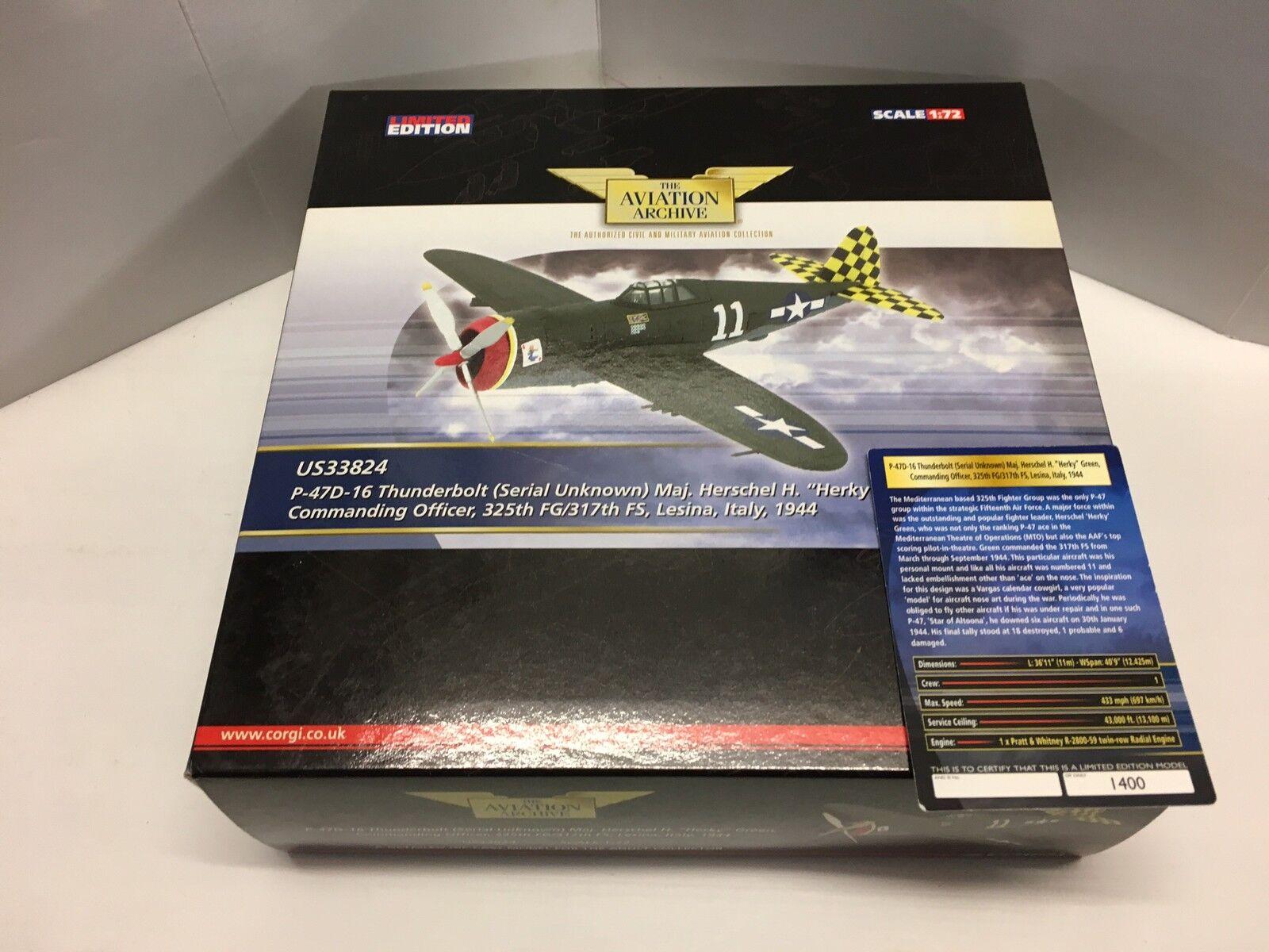 Corgi US33824 P-47D-16 (serial unknown) of Maj. Herschel H Herky Factory Sample