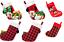 Disney-Store-Minnie-Mickey-Mouse-Peluche-Chaussette-de-Noel-Rouge-Vert-2017 miniature 1
