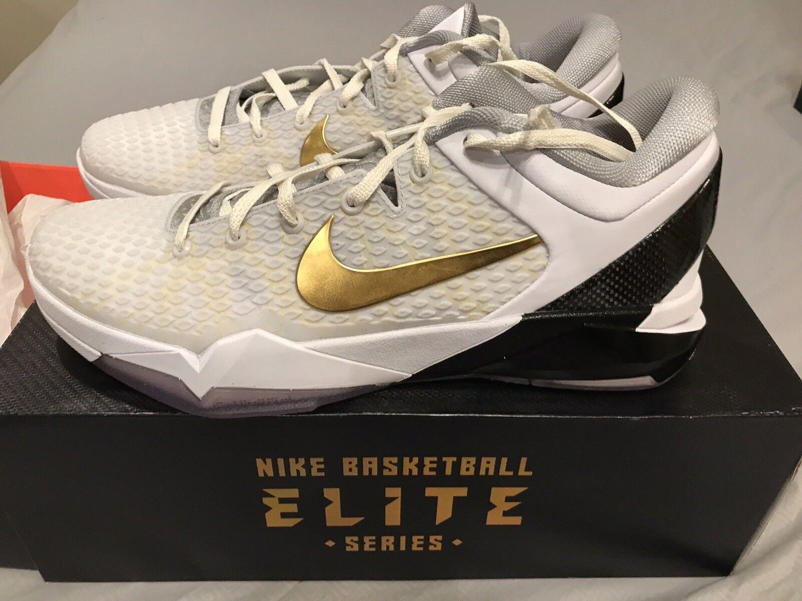 Nike Zoom Kobe VII talla System Elite oro blanco talla VII nuevas en caja 4c1967