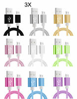 3 x Micro USB Kabel Ladekabel Datenkabel Samsung HTC LG Sony Huawei Nokia 1,5m