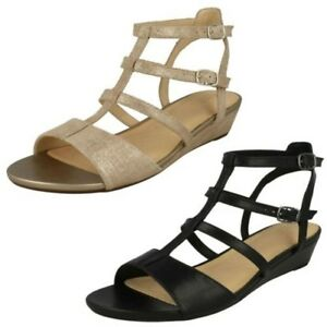 dbc6a5270 Image is loading Ladies-Clarks-Parram-Spice-Gladiator-Sandals