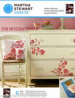 Martha Stewart Exotic Blossoms Adhesive Silkscreen Stencils 32931, Flowers