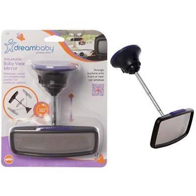 Dreambaby Deluxe Adjustable Telescopic Babyview Mirrow Black