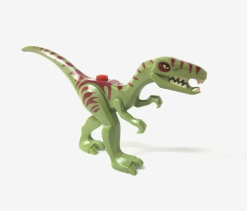LEGO DINO Olive Green Dino Coelophysis w// Dark Red Marking minifigure 5887 new