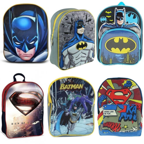 Kids Superhero Batman VS Superman Movie School Bag Rucksack Backpack Brand New