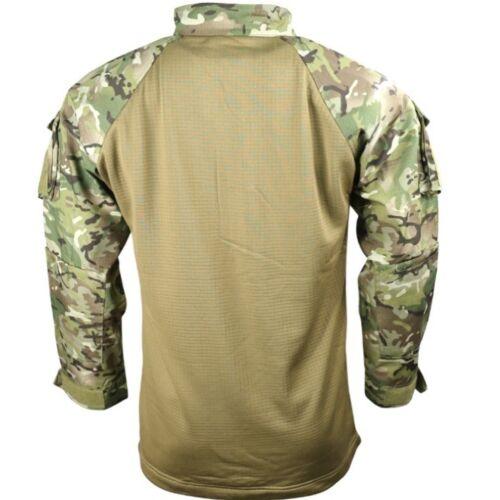 Armée Britannique Style Ubac Chemise Homme S-2XL MTP BTP Camouflage Temps Chaud Top airsoft