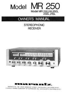 marantz mr250 receiver owners instruction manual ebay rh ebay com marantz nr1508 user manual marantz na8005 user manual
