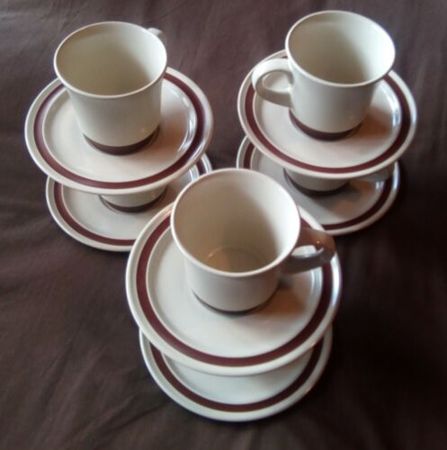Vintage Noritake Stackable Retro Original Ironstone Cup and Saucer Set x6