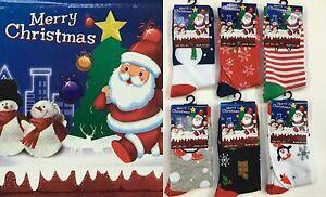 6-Pairs-Xmas-Christmas-Santa-Snow-Man-Children-039-s-Kids-Socks-All-Sizes-School