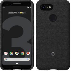 huge discount 1fad8 c8a0b Details about NEW GENUINE GOOGLE PIXEL 3 CARBON BLACK FABRIC CASE COVER  GA00486