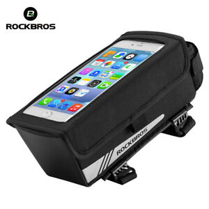 RockBros Magnetic Bike Front Tube Bicycle Frame Bag Black 6.2 Inch Touch Screen