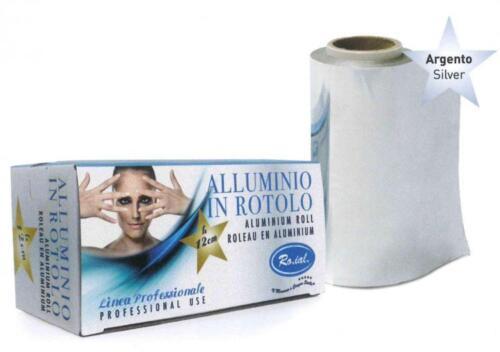 ALLUMINIO IN ROTOLO* Aluminium Roll* SLIVER H 12cm 2 x RO.IAL