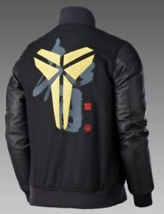 cb346327ad1 Nike KOBE Black Mamba Day GOLD Leather Wool Destroyer Jacket Snake ...
