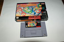 Troddlers SNES 1992 Super Nintendo Game Cart and Box only. No Manual