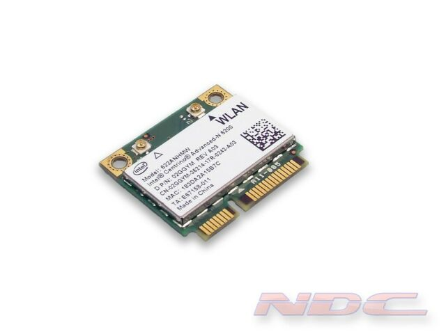 Dell Latitude E6410 Wireless WiFi Card 6200 02ggym Intel 622anhmw