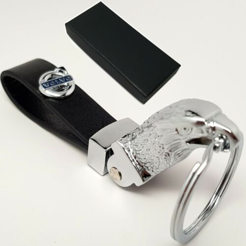 Volvo Eagle Head Key Ring Fob Chain Case Holder With Box Gift For Him Her