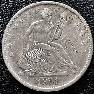 1861 O Seated Liberty Half Dollar CSA Obverse WB-103 Confederate #15258