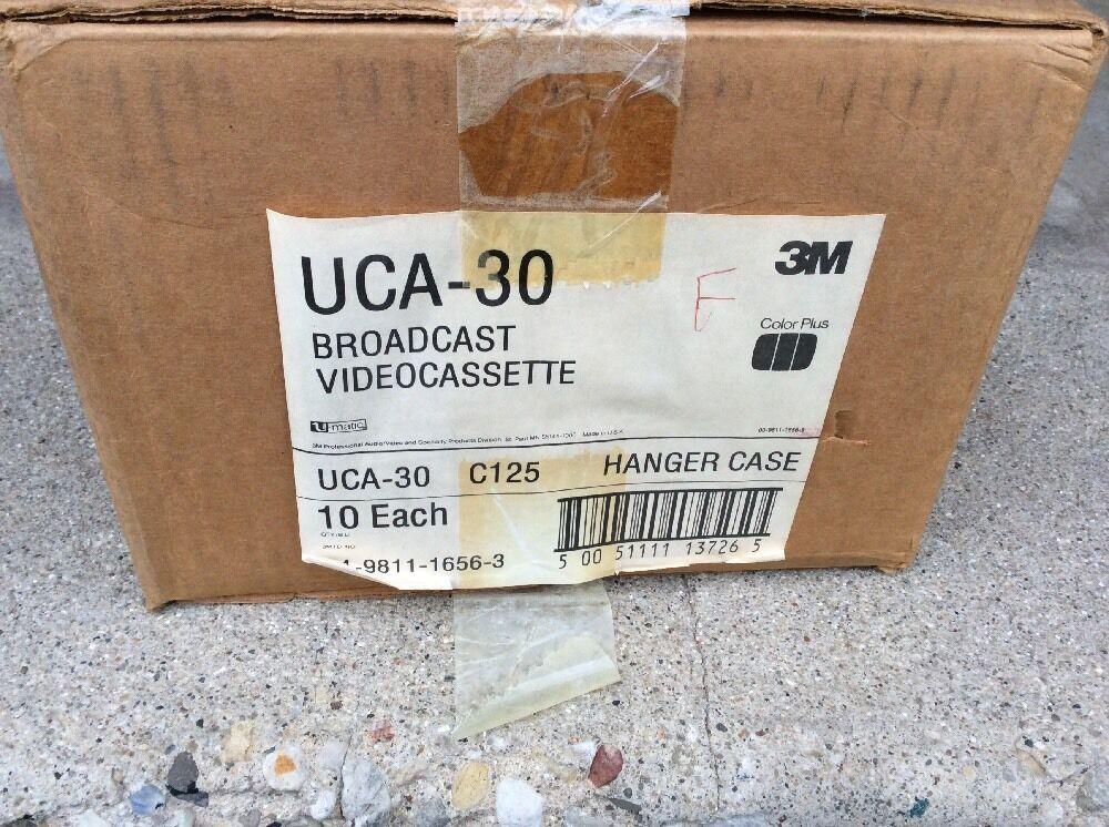 NEW CASE 10X 3M UCA 30 Broadcast Blank Video Cassette Cassettes