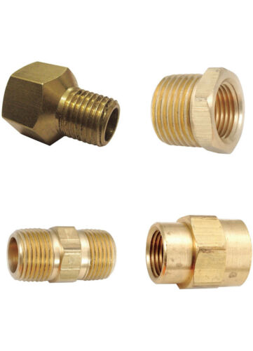 SOLID BRASS AIR FITTINGS REDUCERS BUSHINGS NPT ADAPTERS ANY SIZE COUPLERS