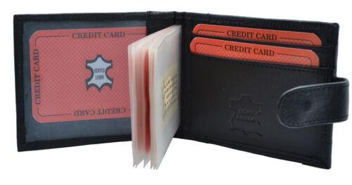 Kreditkartenetui Querformat 14 Hüllen mit Außenriegel Nappa Leder